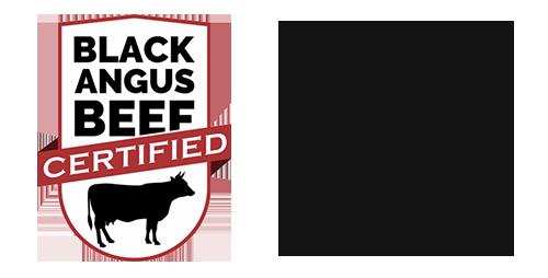 Pečeno na odprtem ognju. Black Angus Certified.